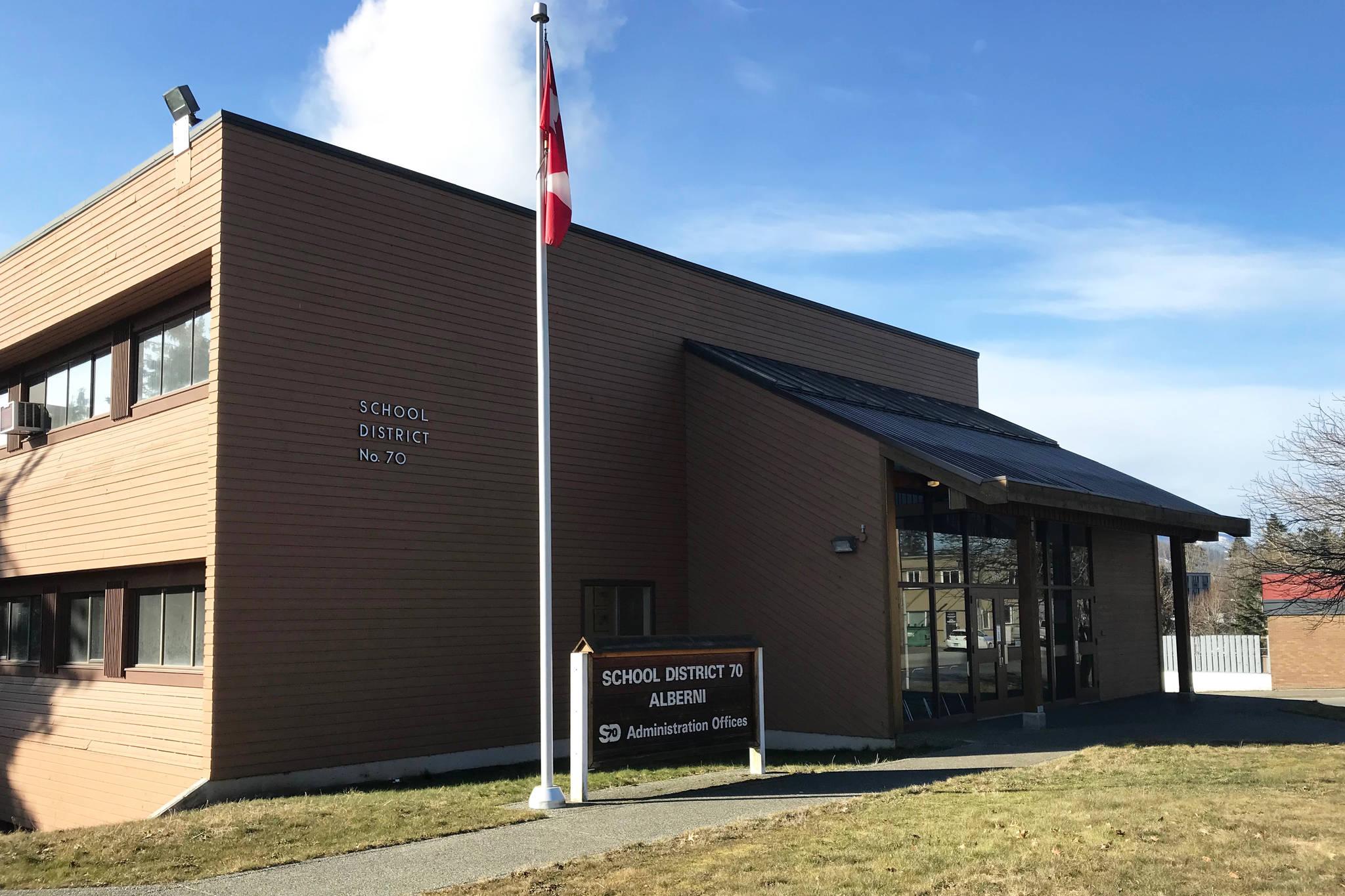 The School District 70 administration office in Port Alberni. AV NEWS FILE PHOTO