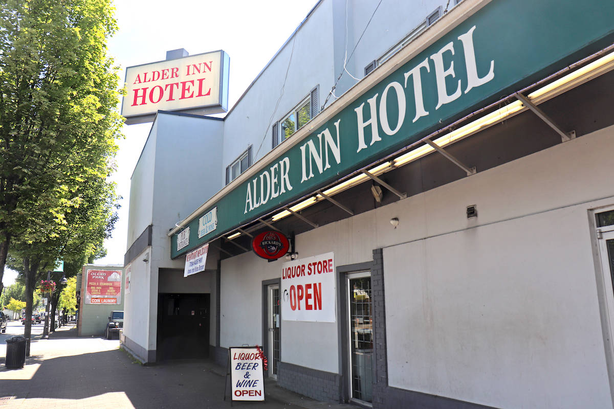 Hutch Hotels Ltd., which owned the former Alder Inn (which was demolished in November 2020), is among the defendants in a lawsuit related to an alleged impaired-driving crash in January 2017. The civil suit also names S & L Kitchen and Bar in Abbotsford. (Black Press file photo)