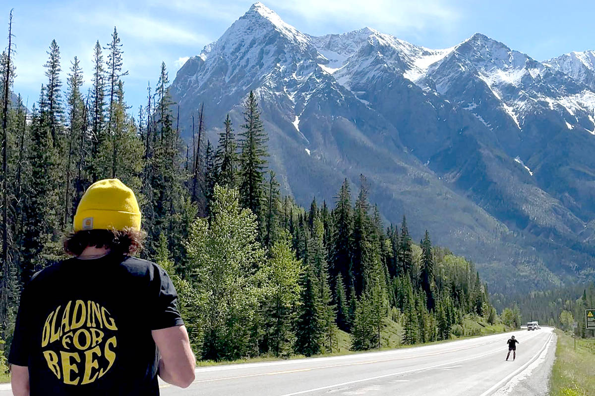 Blading for bees, led by Aldergrove resident Zach Choboter, headed through B.C. (Special to The Star)