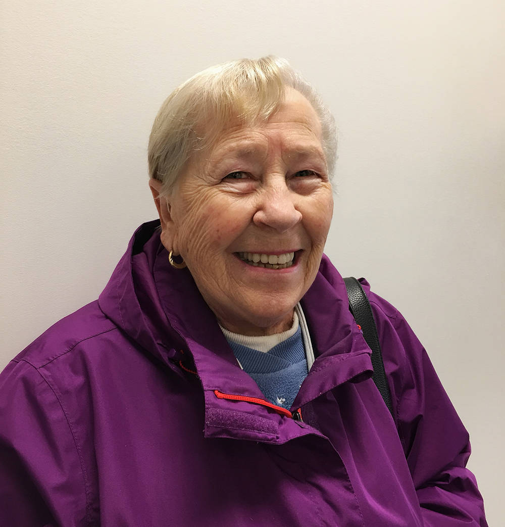 Barbara Vollet is very happy with the hearing aids she purchased from Kim Galick at Ears Hearing Clinic in Langley.