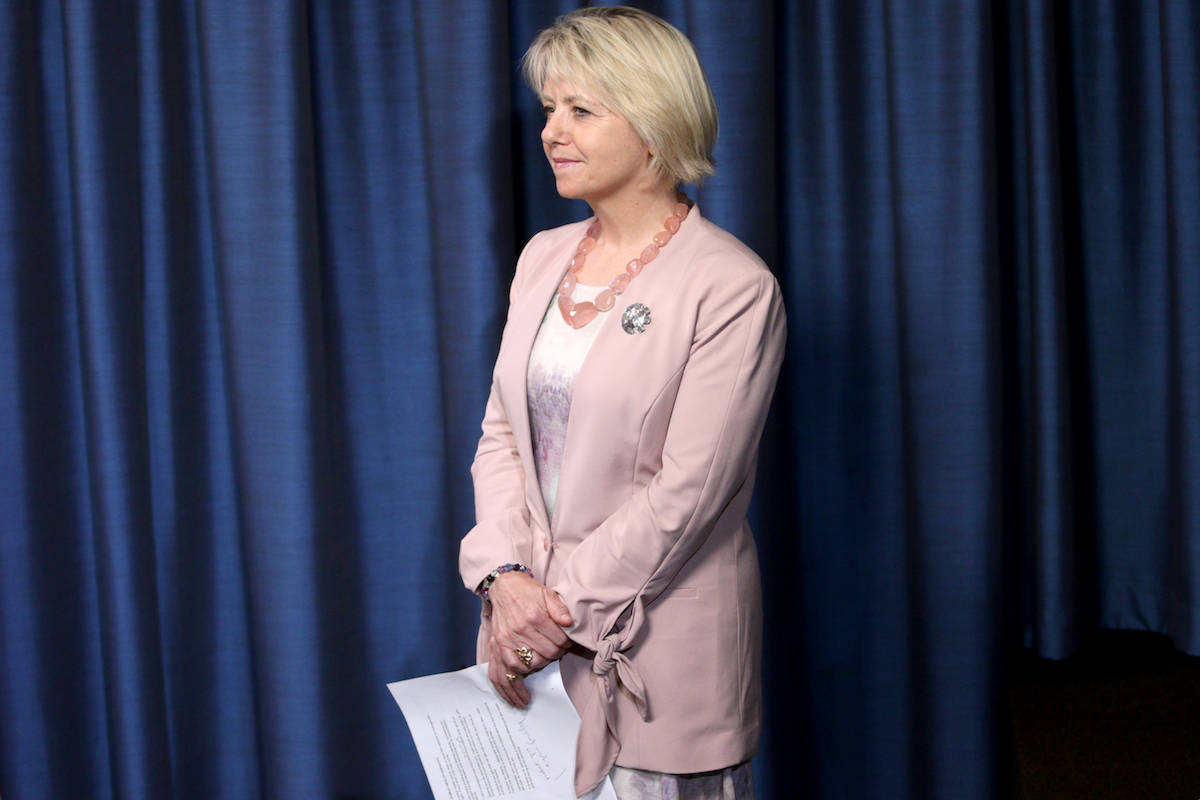 Provincial health officer Dr. Bonnie Henry answers questions during a press conference, March 2021. THE CANADIAN PRESS/Chad Hipolito
