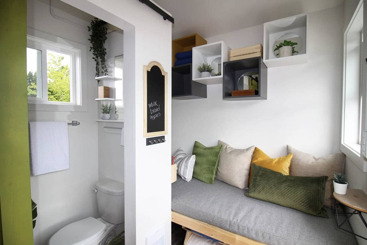 Anjo said the tiny house would be perfect as a writing cabin, or a small house for a student wanting some space from their parents… or vice versa. (Special to The News)