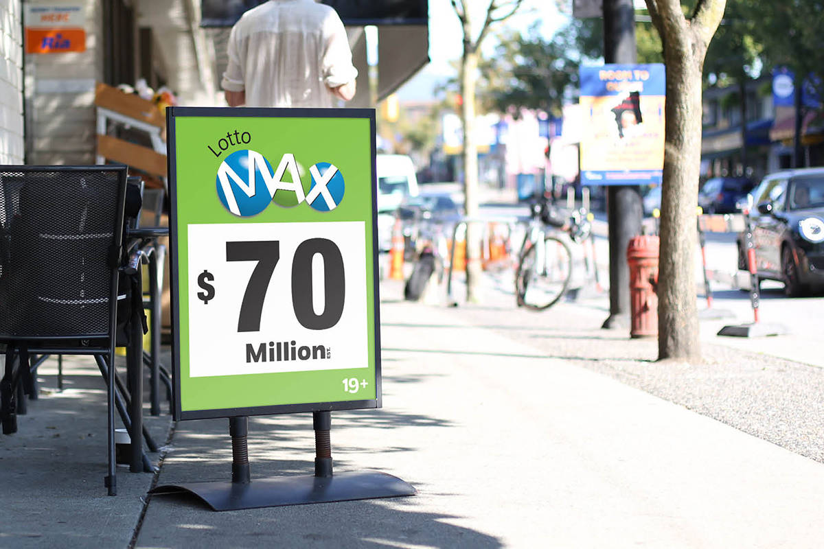 Friday's Lotto Max draw has reached a record-breaking $120 million in total prizes (Photo courtesy of BCLC)