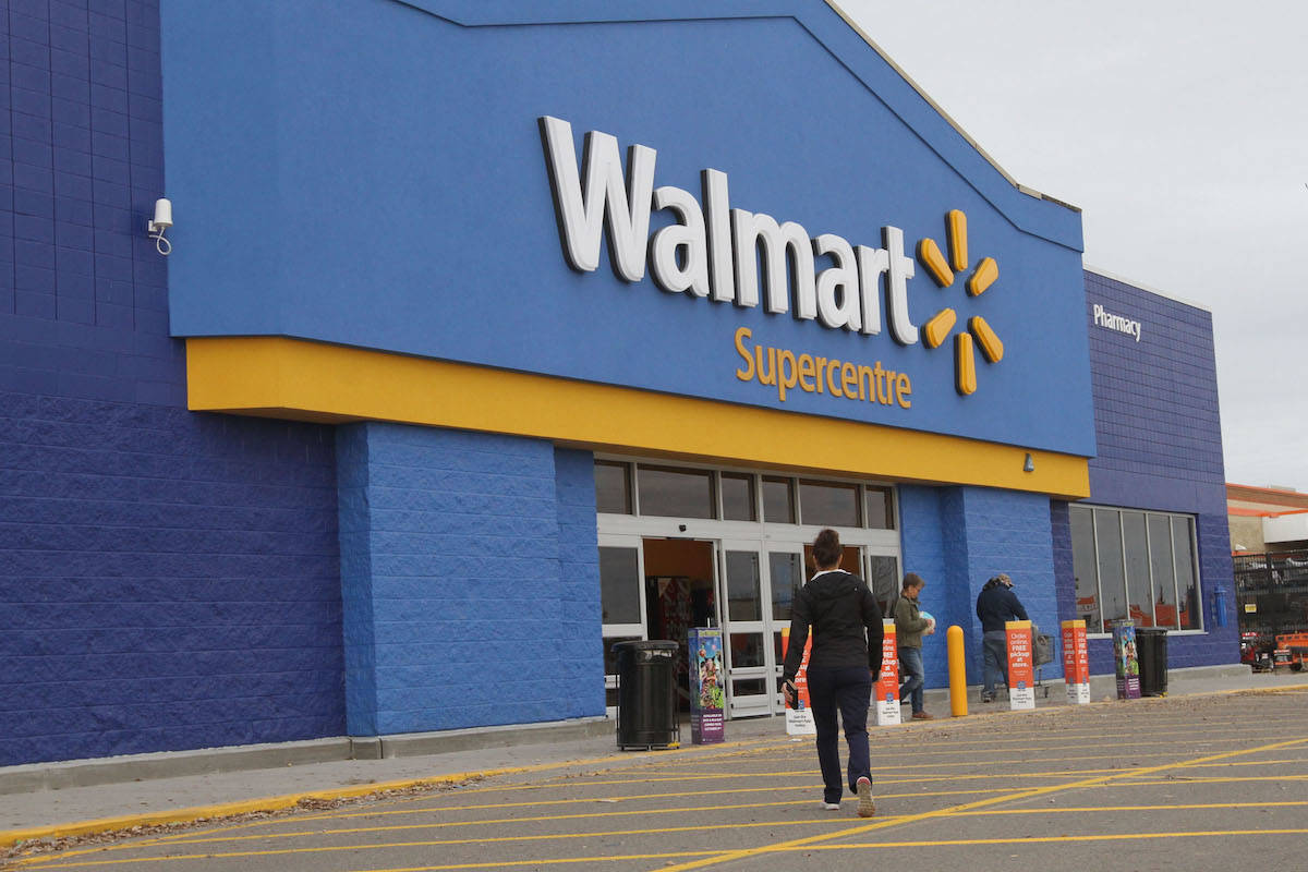 """The Walmart store along Highway 16 will be removing its traditional belt checkout lines and offering a """"100 per cent self-checkout"""" option to customers. (Black Press File Photo)"""