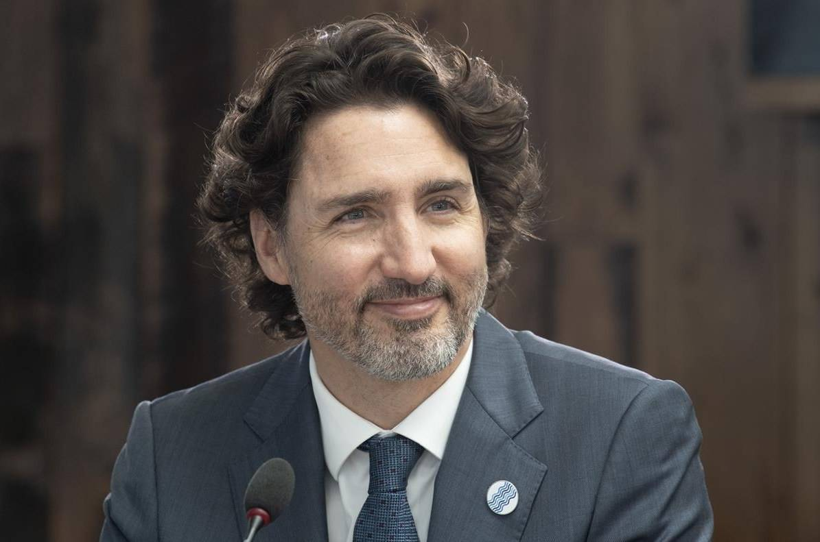 Canadian Prime Minister Justin Trudeau participates in a plenary session at the G7 Summit in Carbis Bay, England on Friday June 11, 2021. THE CANADIAN PRESS/Adrian Wyld