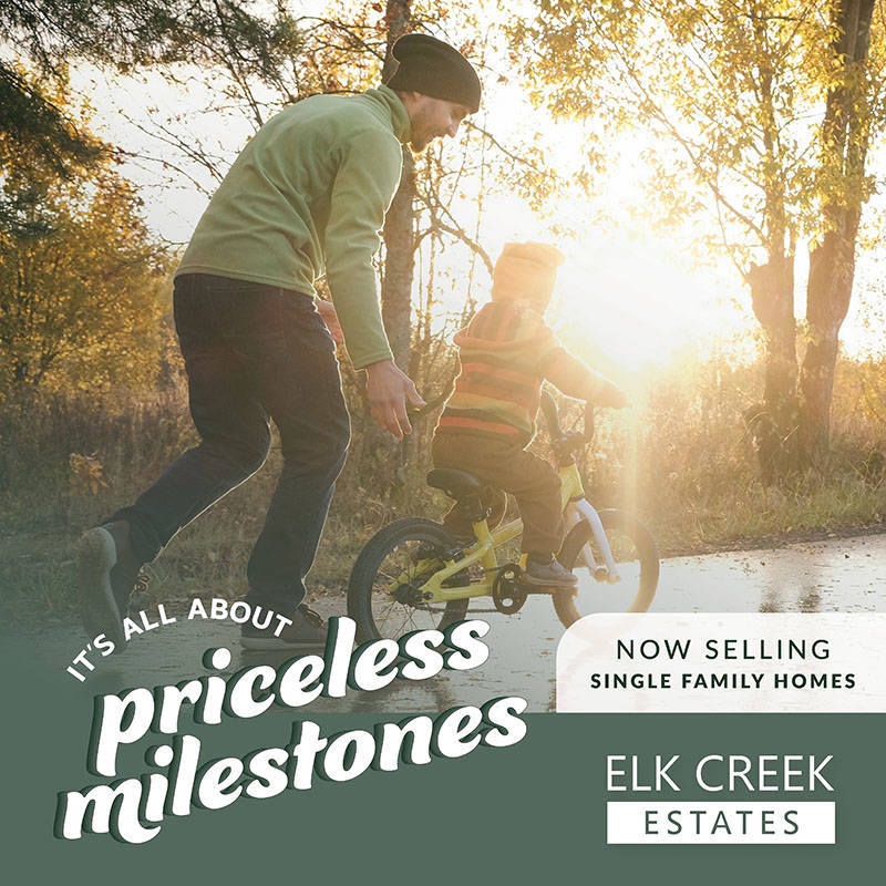 The final phase of Elk Creek Estates is now selling. It's a new community, but already close-knit and family-focused.
