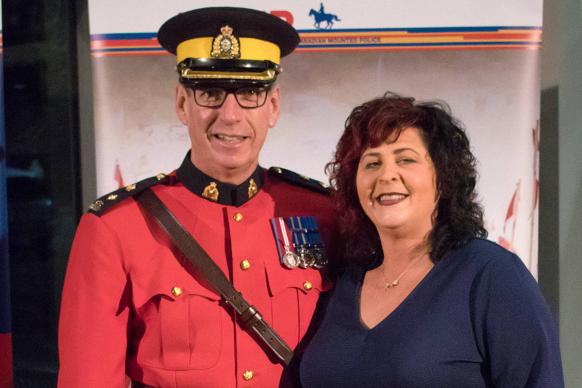 A letter from a senior RCMP officer in Langley said Mounties who attended a mayor's gala in January of 2020 used their own money. Controversy over the event has dogged mayor Val van den Broek (R) and resulted in the reassignment of Langley RCMP Supt. Murray Power (L). (file)