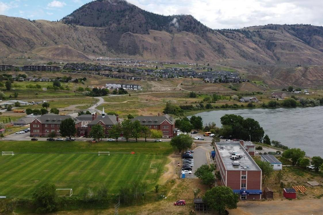 The Kamloops Indian Residential School is photographed using a drone in Kamloops, B.C., Monday, June, 14, 2021. The remains of 215 children were discovered buried near the former school earlier this month. THE CANADIAN PRESS/Jonathan Hayward