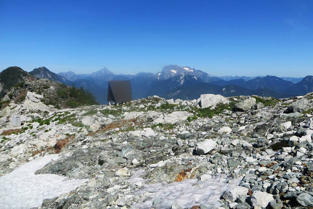There is an emergency shelter near the Golden Ears peaks. (Facebook/Special to The News)