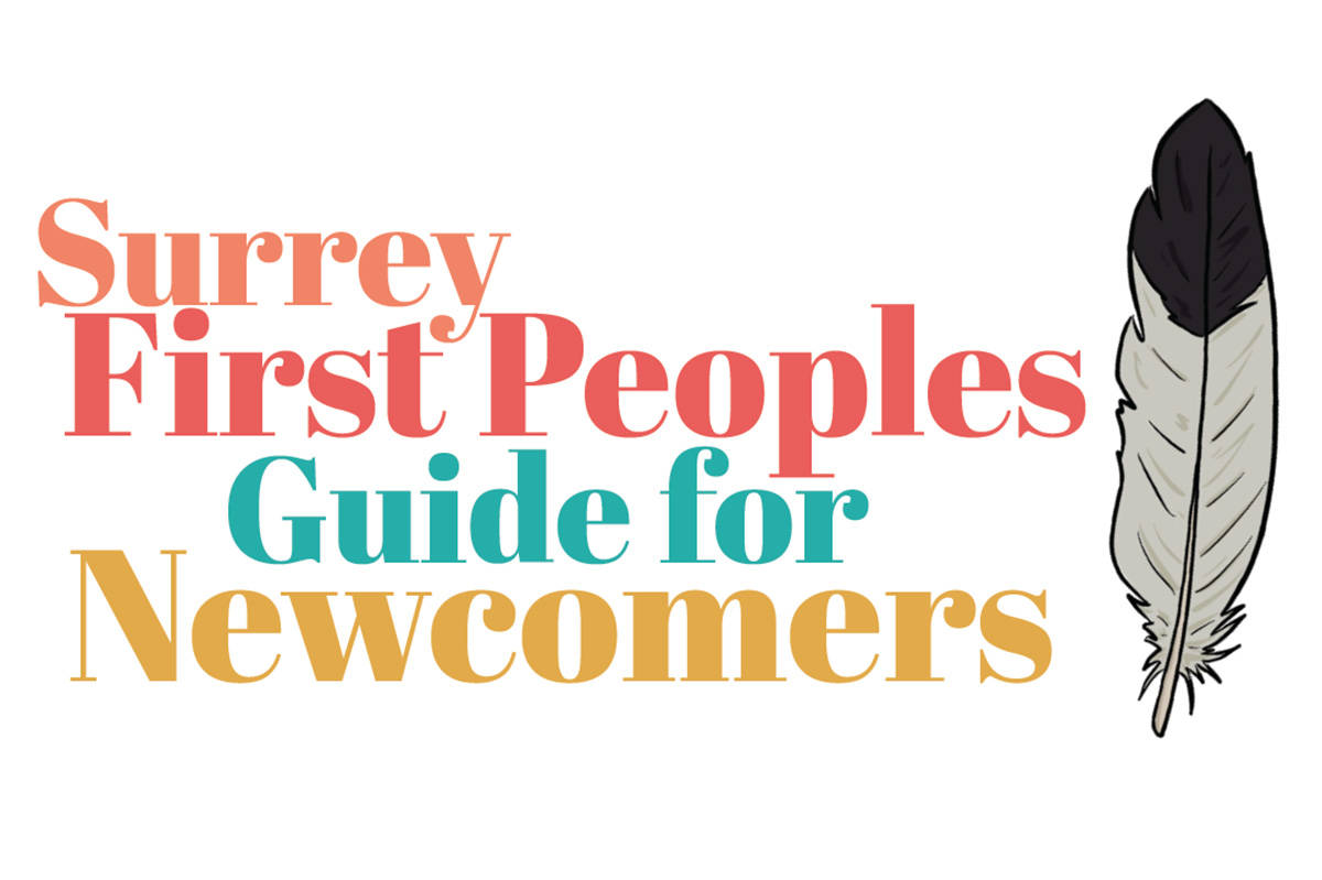 Cover of the 32-page Surrey First Peoples Guide for Newcomers, created and compiled by Jeska Slater.
