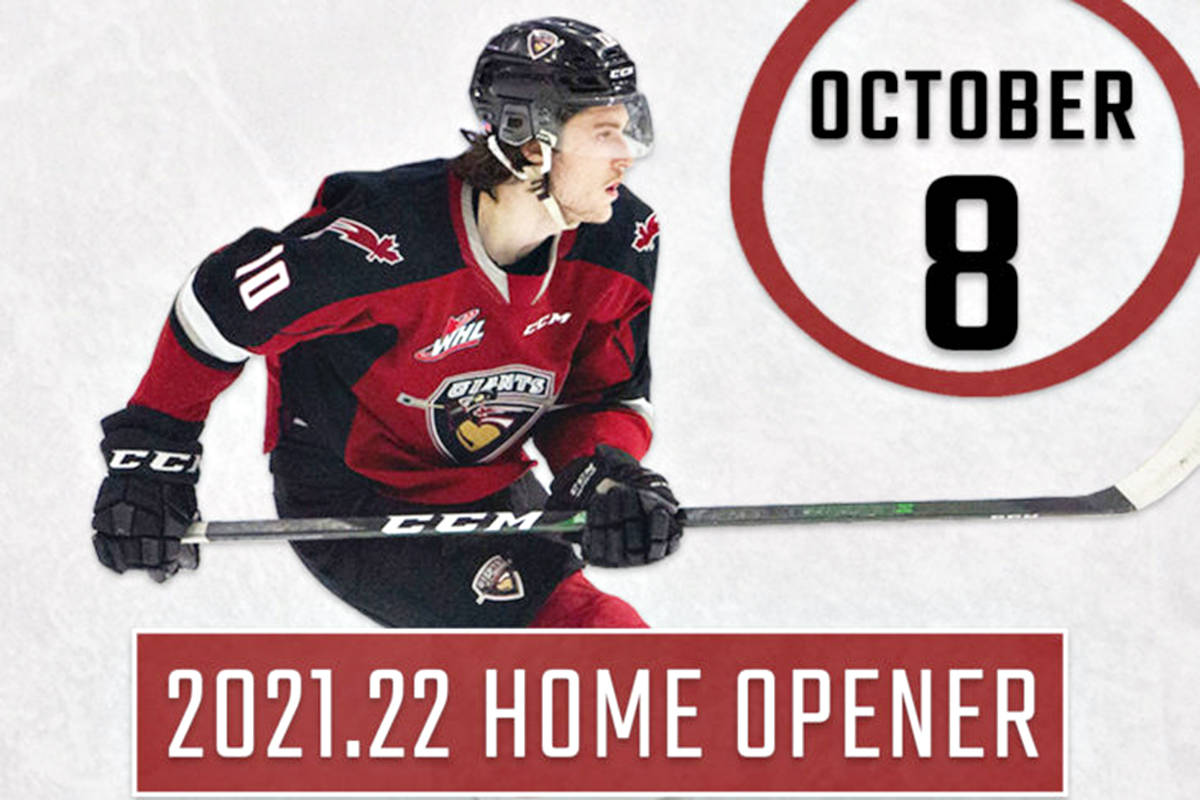 Vancouver Giants will return to the ice on Oct. 8, hosting the Prince George Cougars at Langley Events Centre. (Special to Langley Advance Times)