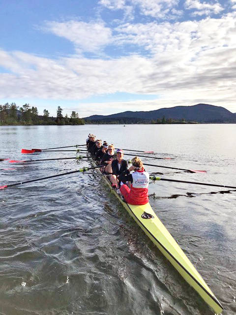 Team Canada practices. Langley's Andrea Proske and Lisa Roman have been named to the women's eight. (Susanne Grainger/special to Langley Advance Times)