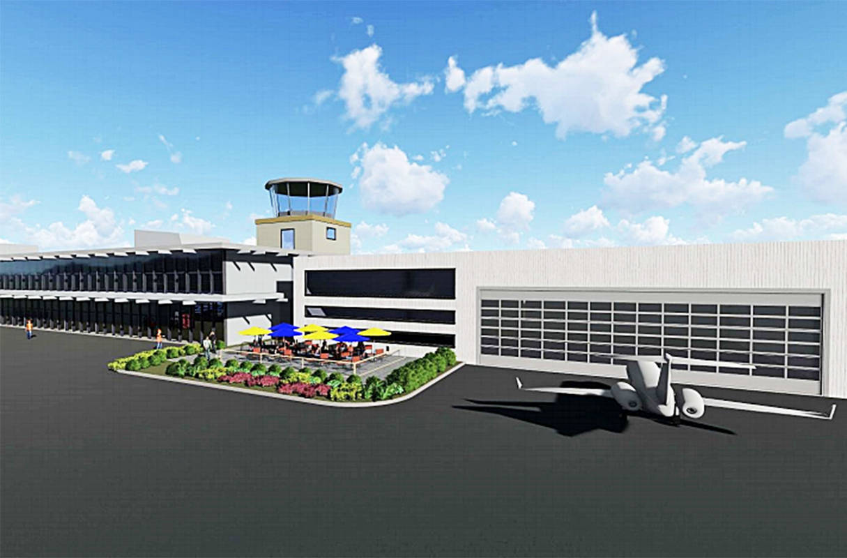 An artists conception of the new terminal building at the Pitt Meadows Regional Airport.