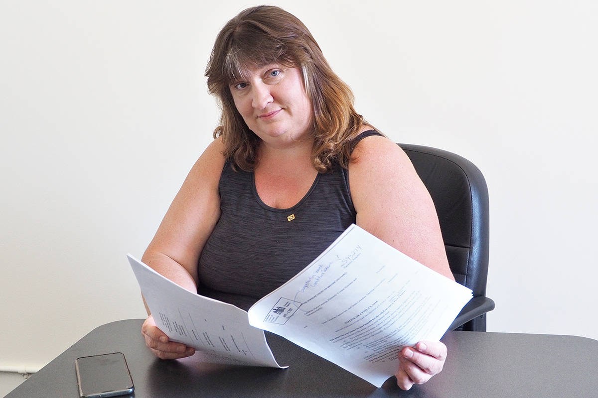 Kimberly Bussiere and other laid-off employees of Casino Nanaimo have launched a class-action lawsuit against the Great Canadian Gaming Corporation. (Chris Bush/News Bulletin)