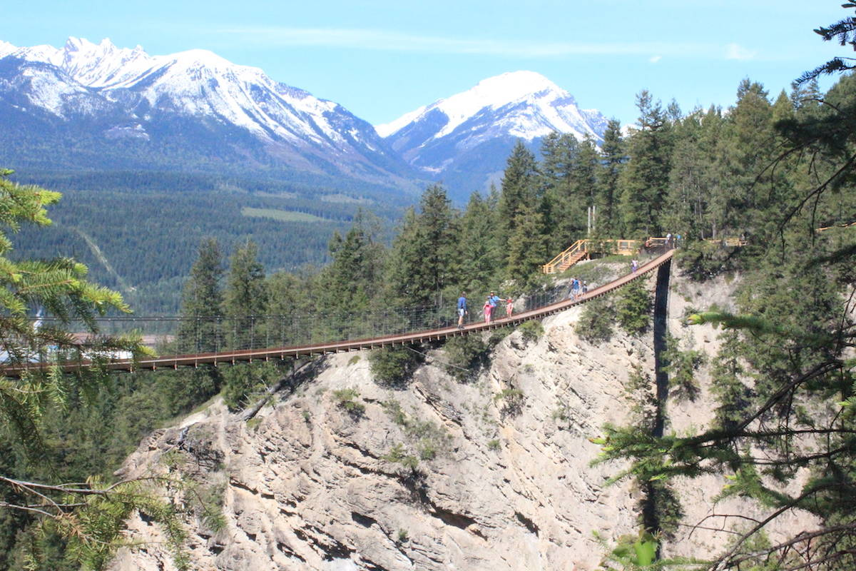 The first suspension bridge is the tallest in Canada, with a second suspension bridge just below it. The two are connected by a trail that's just over 1 km. (Claire Palmer photo)