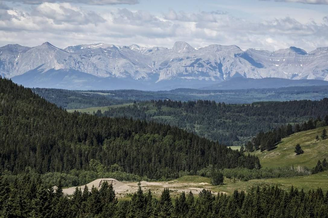 A section of the eastern slopes of the Canadian Rockies is seen west of Cochrane, Alta., Thursday, June 17, 2021. A joint federal-provincial review has denied an application for an open-pit coal mine in Alberta's Rocky Mountains, saying its impacts on the environment and Indigenous rights aren't worth the economic benefits it would bring. THE CANADIAN PRESS/Jeff McIntosh