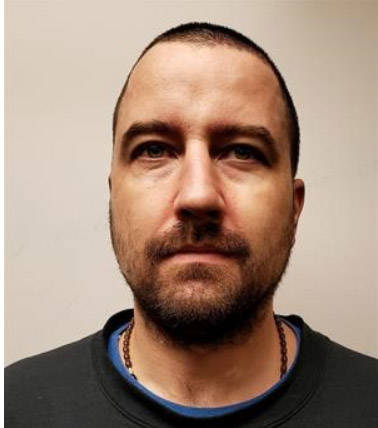 """Name: KELLOWAY, Arthur Age: 38 Height: 6'0"""" ft Weight: 190 lbs Hair: Brown Eyes: Green Wanted: Multiple instances of Break and Enter / Theft Warrant in effect: June 4, 2021 Parole Jurisdiction: Vancouver, B.C"""