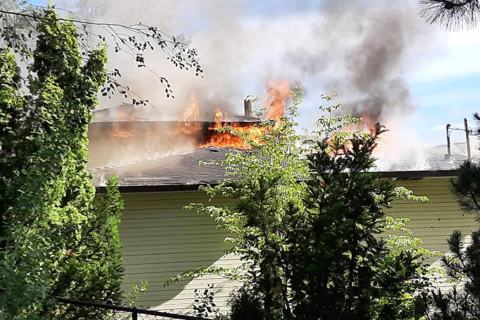 A Lake Country home was destroyed in a fire June 17, 2021. (District of Lake Country)
