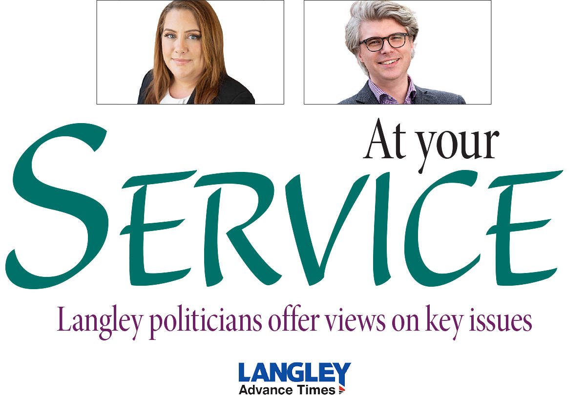 The public is invited to submit suggested questions for our local politicians, for consideration in a future At Your Service feature. Email: editor@langleyadvancetimes.com.