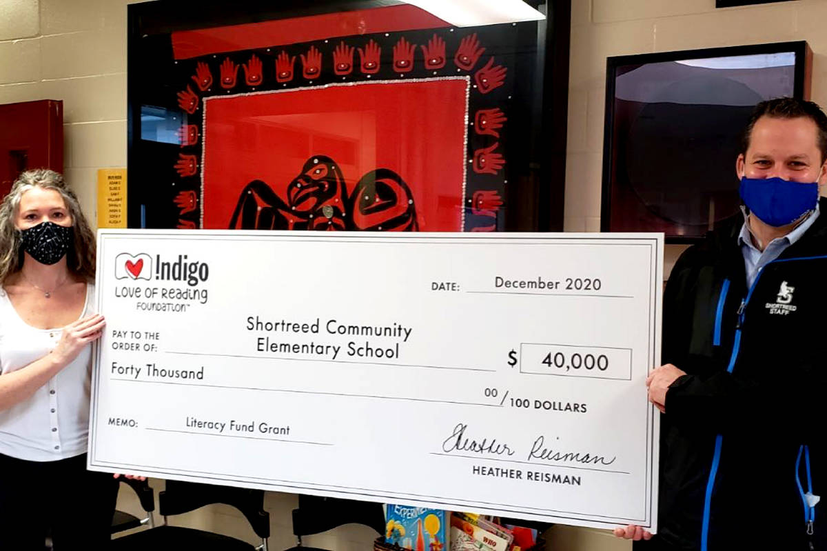 Shortreed Elementary received $40,000 from the Indigo Love of Reading foundation to purchase new books. (Special to The Star)