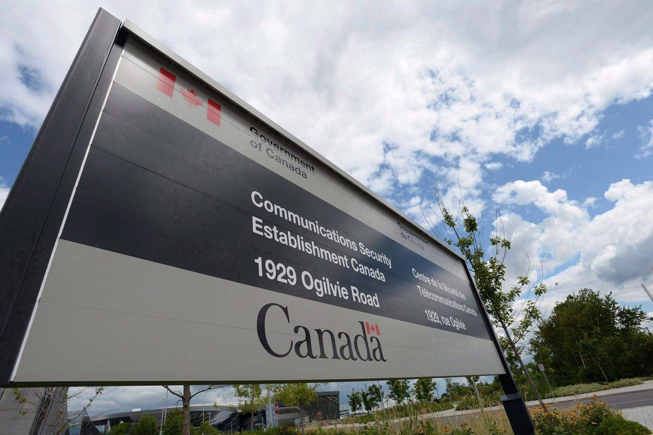 A sign for the Government of Canada's Communications Security Establishment (CSE) is seen outside their headquarters in the east end of Ottawa on July 23, 2015. THE CANADIAN PRESS/Sean Kilpatrick