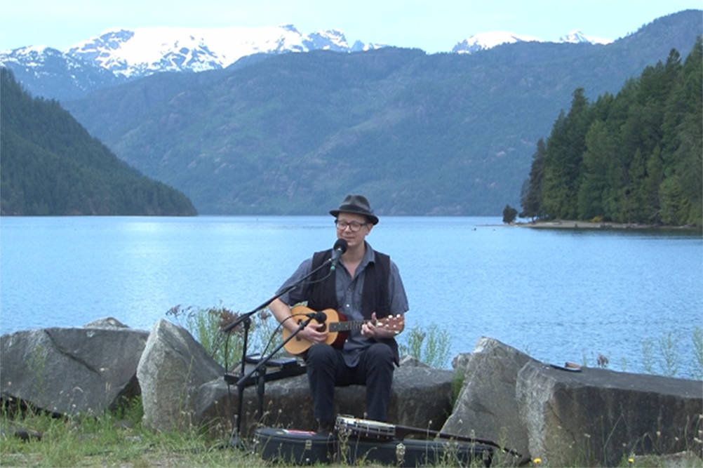 Corwin Fox performs on the grounds of the Courtenay and District Fish & Game Club. The 2021 festival will feature numerous outdoor segments, highlighting the beauty of the Comox Valley. Photo via Island MusicFest
