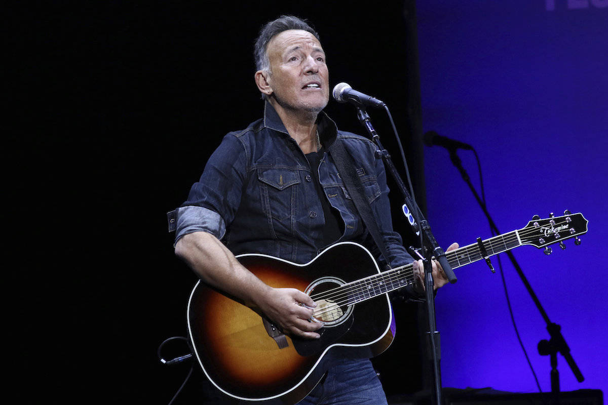 Bruce Springsteen performs at the 13th annual Stand Up For Heroes benefit concert in support of the Bob Woodruff Foundation in New York on Nov. 4, 2019. (Greg Allen/Invision/AP)