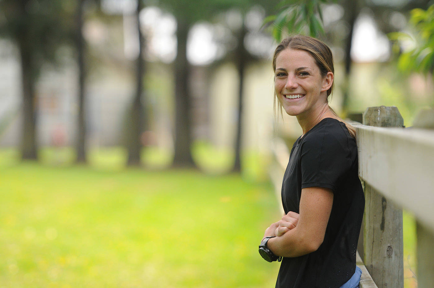 "Kalyn Head, seen here on June 4, 2021, will be running 100 kilometres for her ""birthday marathon"" fundraiser on July 23. (Jenna Hauck/ Chilliwack Progress)"