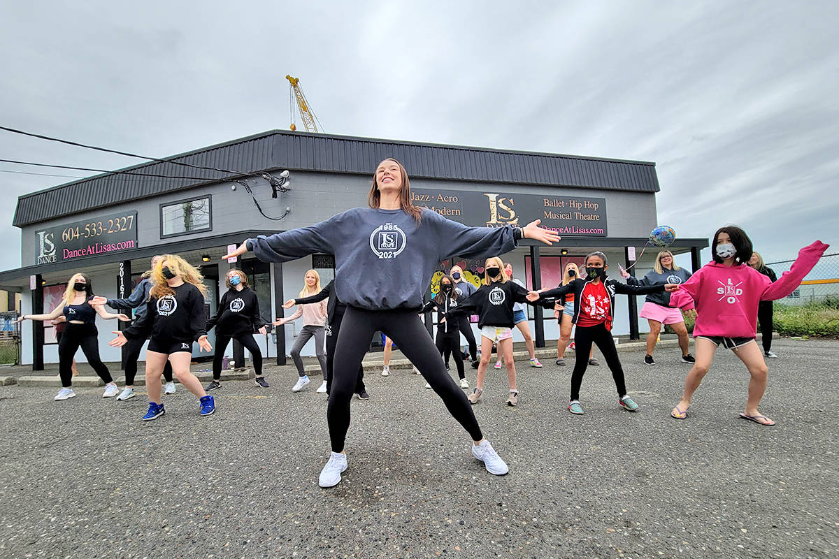 Students staged a flash mob on the last day of dancing at Lisa's School of Dance in Langley City on Saturday, June 19. (Dan Ferguson/Langley Advance Times)