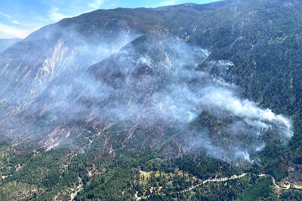 The George Road wildfire near Lytton, B.C., has grown to 250 hectares. (BC Wildfire Service)