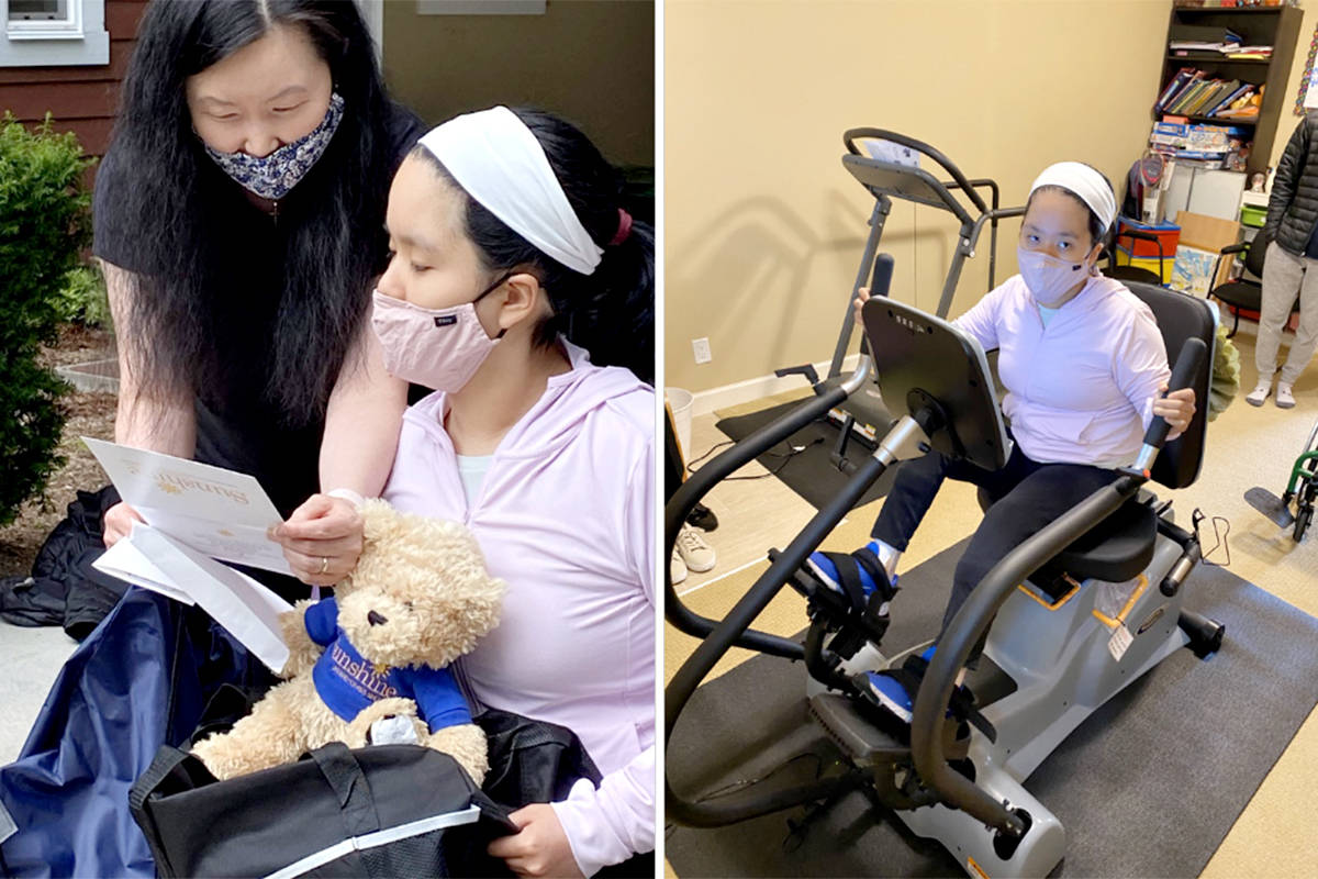 Langley teen Julia Kang has a new cross-trainer, thanks to the Sunshine Foundation charity (Special to Langley Advance Times)