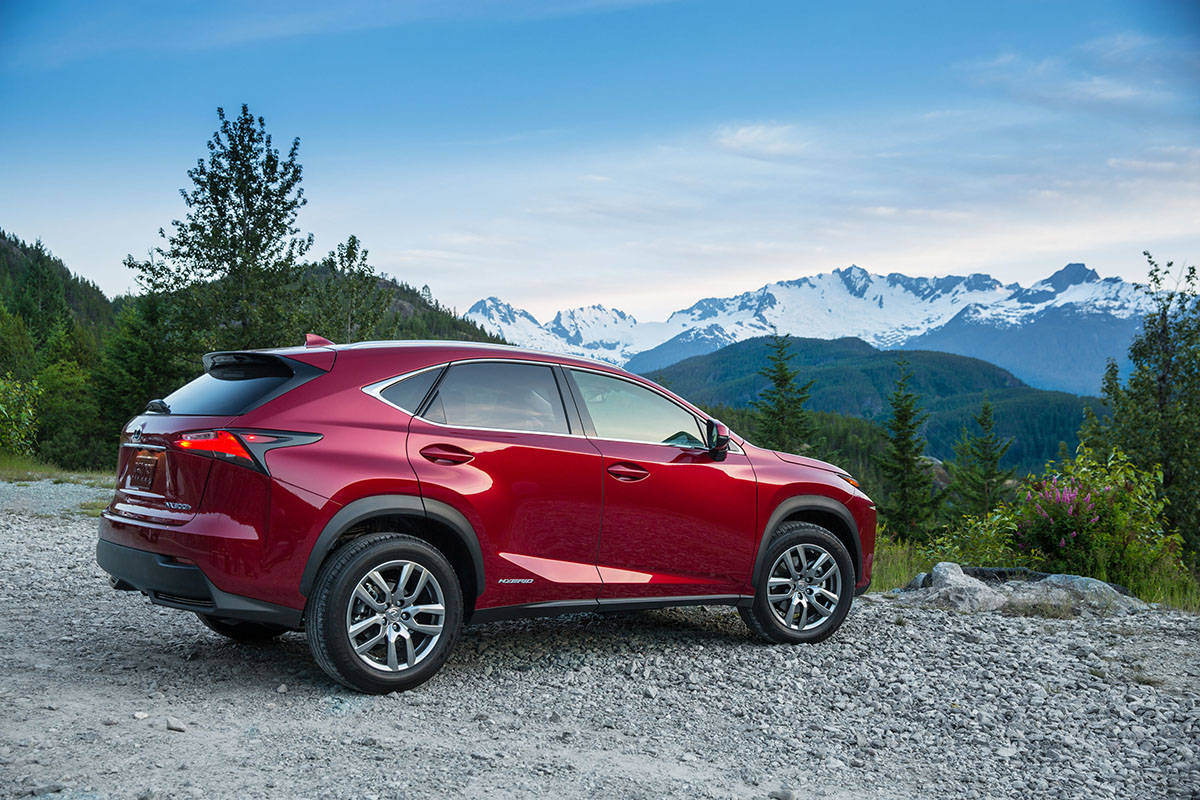 The 2021 Lexus NX 300h'S 2.5-litre gasoline engine is assisted by two electric motors. A third motor drives the rear wheels. Output is 194 horsepower, while the non-hybrid 300 is rated at 235 horsepower. PHOTO: LEXUS