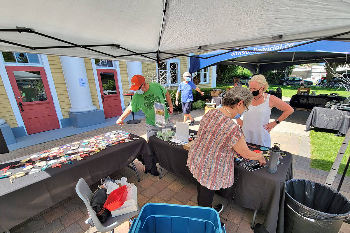 Fraser Valley Potters Guild members held their first in-person market in more than a year at at the Sunday, June 20 Hearts For Hospice event at the Fort Langley Community Hall. (Dan Ferguson/Langley Advance Times)