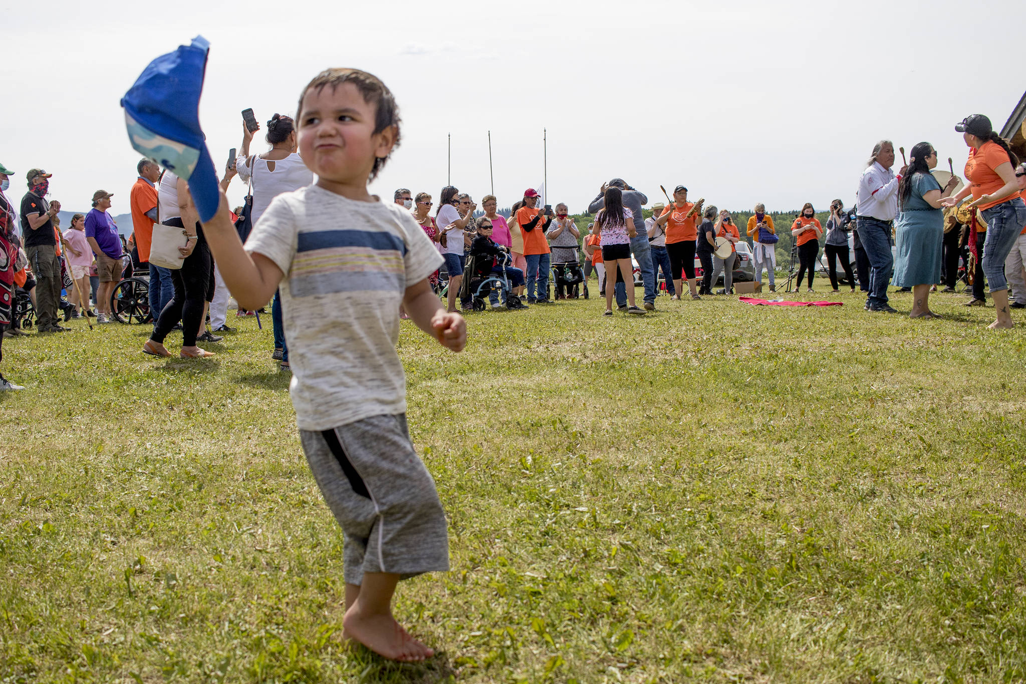 The three-day healing ceremony was held on the site of the Lejac Residential School. This ceremony was held after 215 children found buried at the Kamloops Indian Residential School site. (Aman Parhar/Omineca Express)