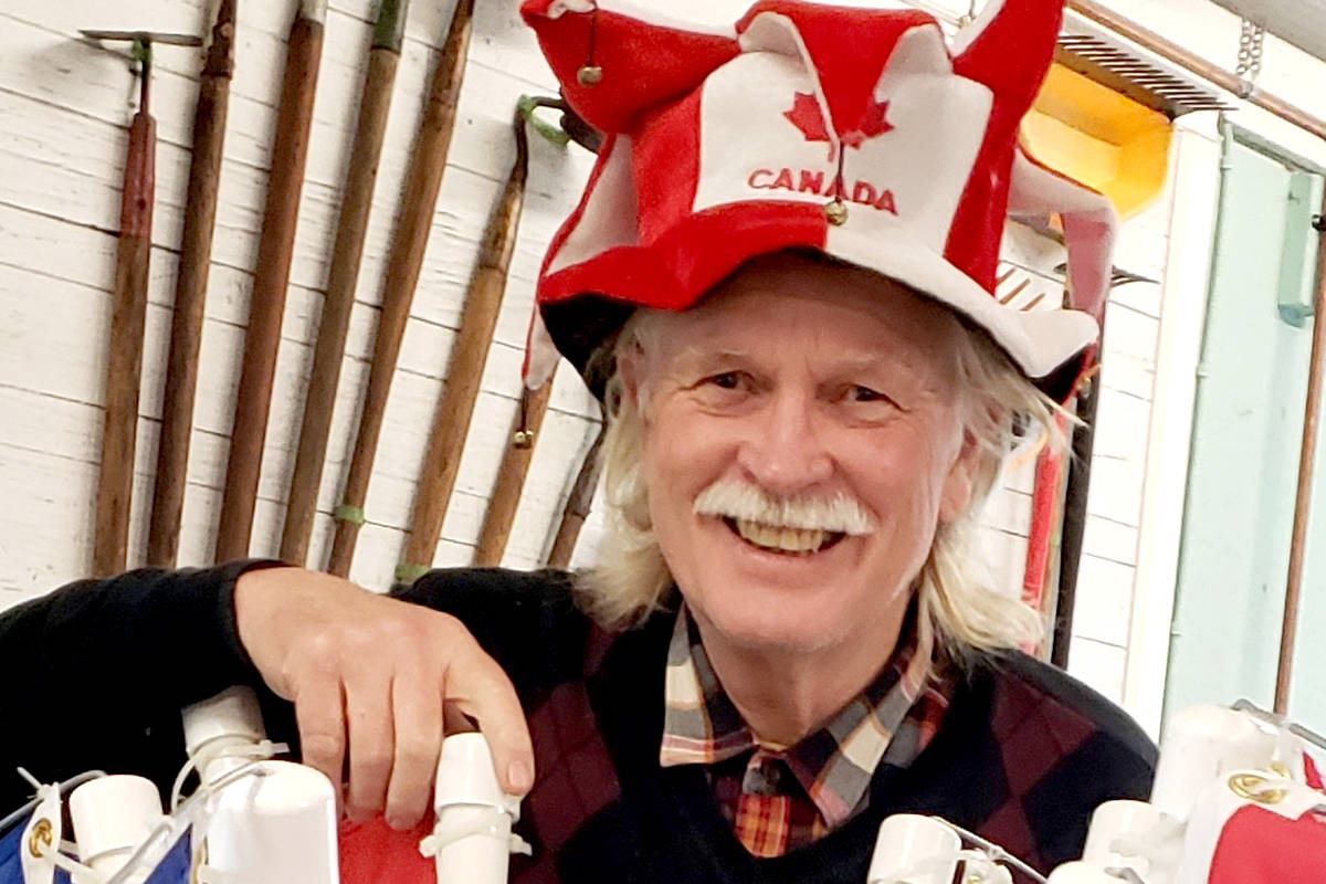 Volunteer Mike Robinson prepared for the Canada Day parade, set to begin at Aldergrove Community Secondary on Thursday, July 1. (Special to Langley Advance Times)