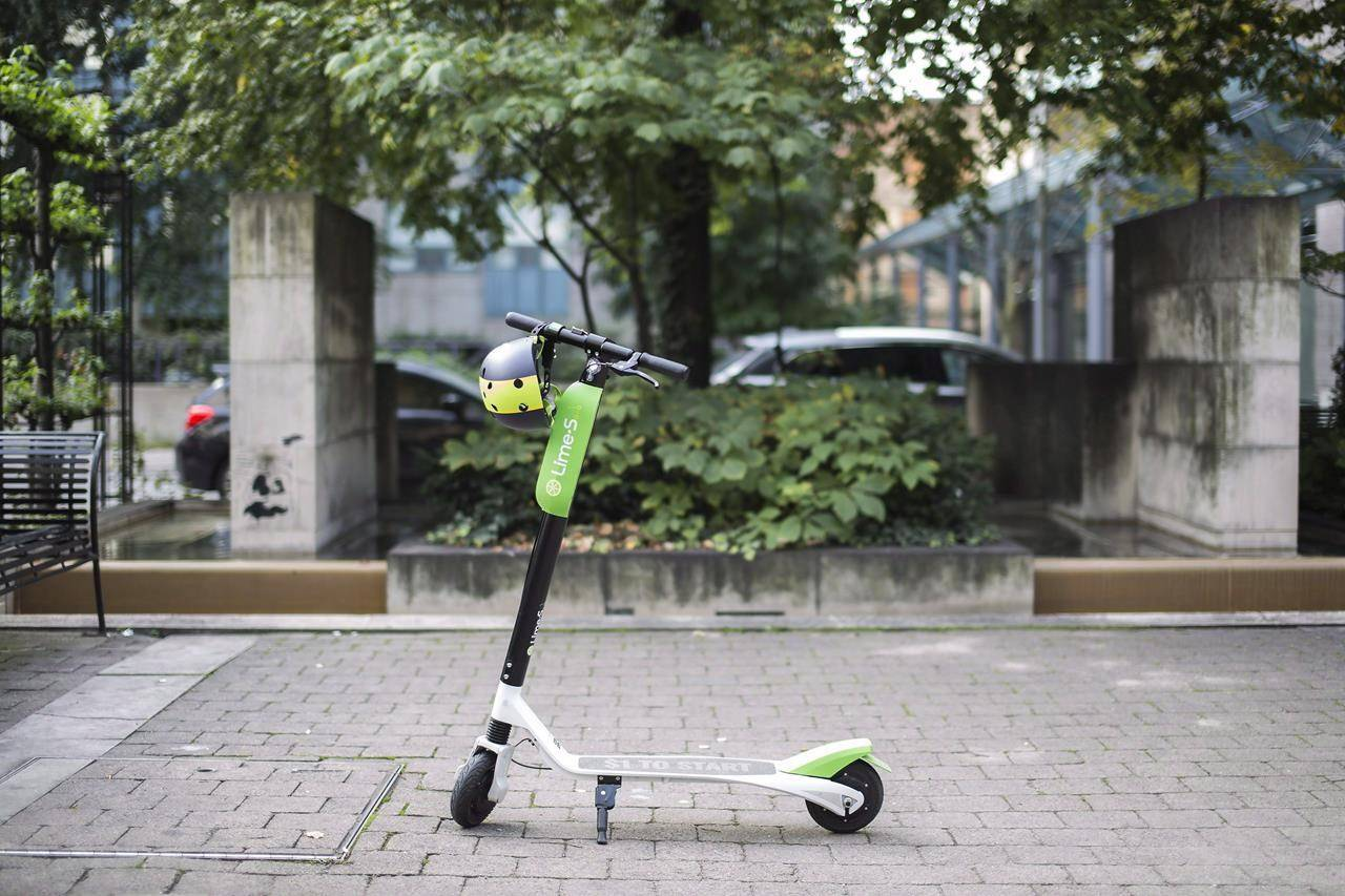 The Lime-S electric scooter is pictured in Toronto on Thursday, Sept. 27, 2018. When shared e-scooter companies rolled into Canada in 2018, they hoped a few small pilots would quickly result in a country full of people zipping around on two wheels. THE CANADIAN PRESS/Giordano Ciampini