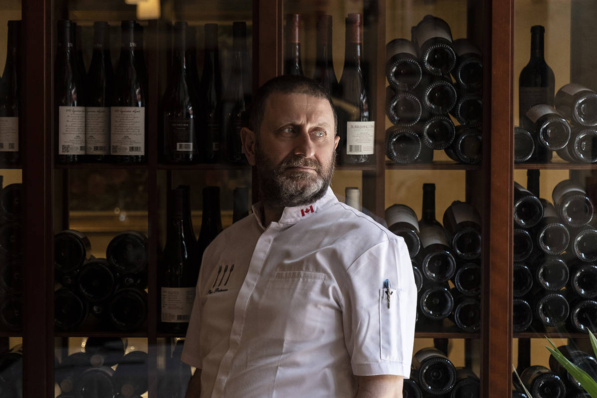 """Chef """"Pino"""" Posteraro opened Cioppino's Mediterranean Grill and Enoteca in Yaletown in 1999, and it's been on all the """"best"""" lists ever since. Lia Crowe photograph"""