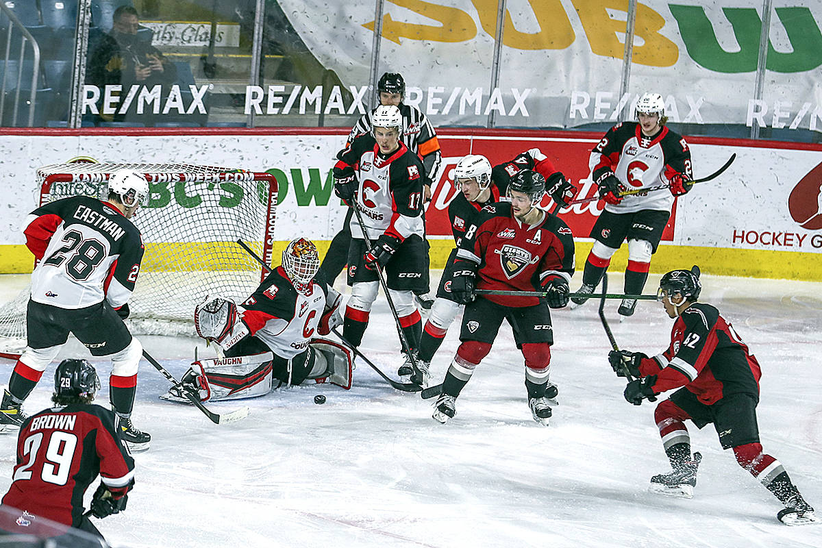 When they last met, Giants fell 3-0 to the Prince George Cougars. Both will renew their rivalry in Maple Ridge on Sept. 24. (Allen Douglas/Special to Black Press Media)