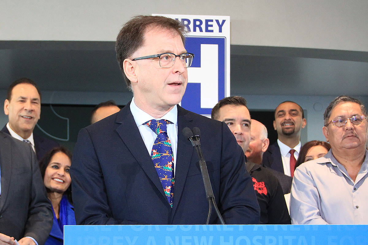 Health Minister Adrian Dix announced in December that Surrey's new hospital will be located in Cloverdale, next to KPU. (File photo: Malin Jordan)