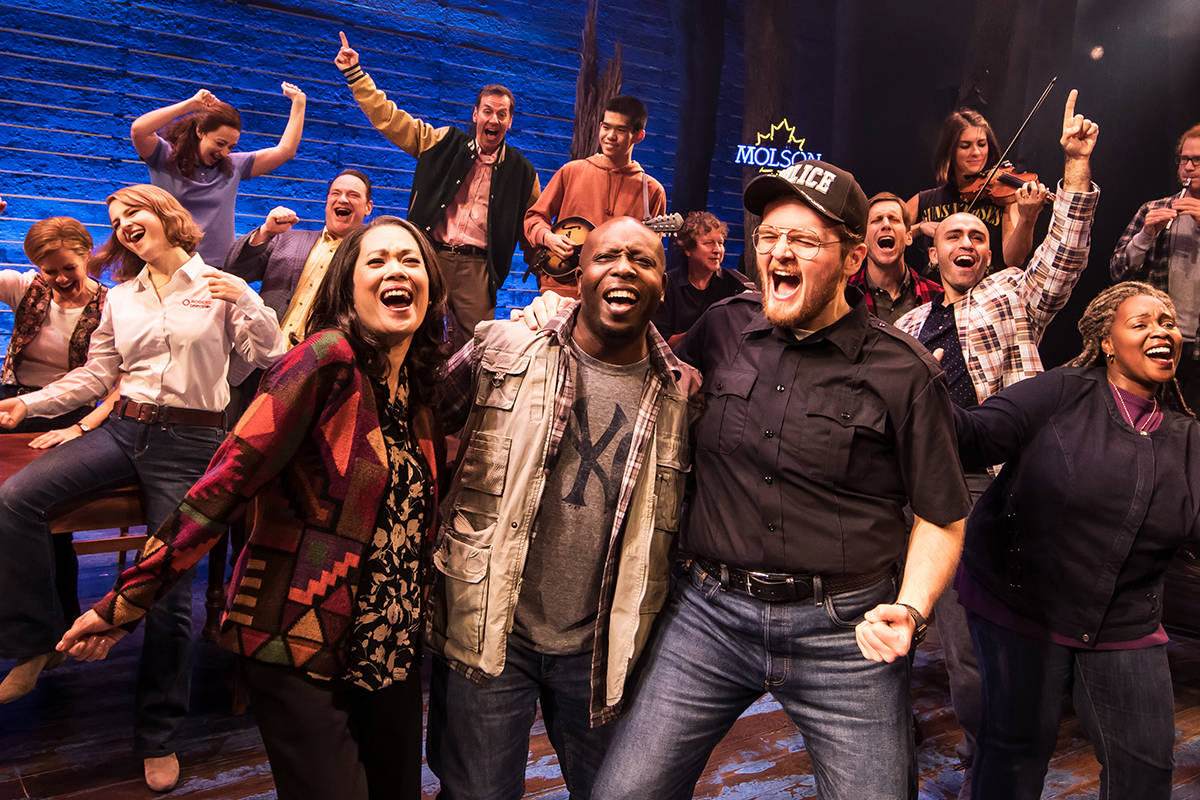 """Cast members in a 2018 touring production of """"Come From Away."""" (submitted photo: Broadway Across Canada)"""