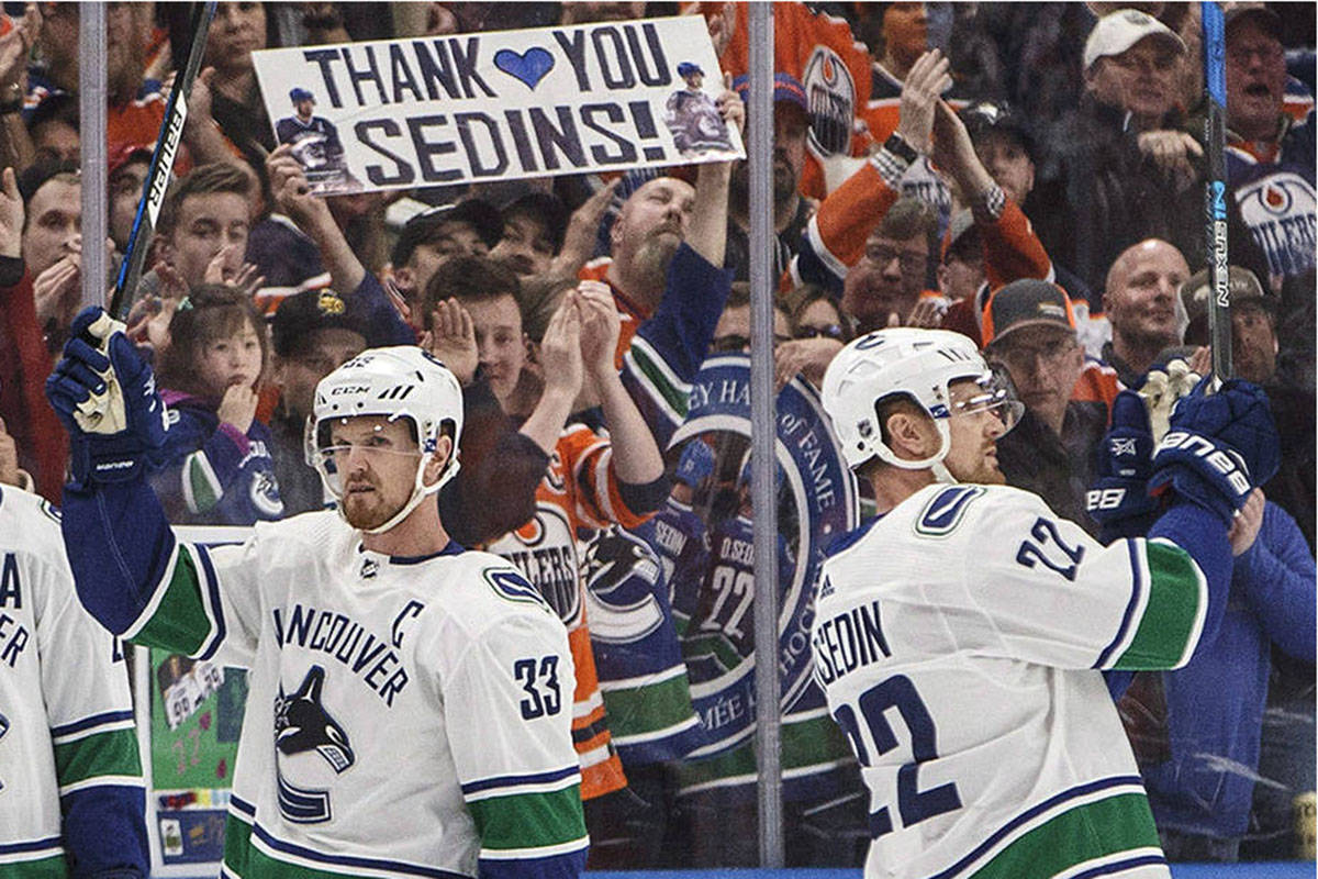Henrik and Daniel Sedin have been named as special advisors to the general manager for the Vancouver Canucks. The duo will also assist with the Abbotsford AHL franchise. (File photo)