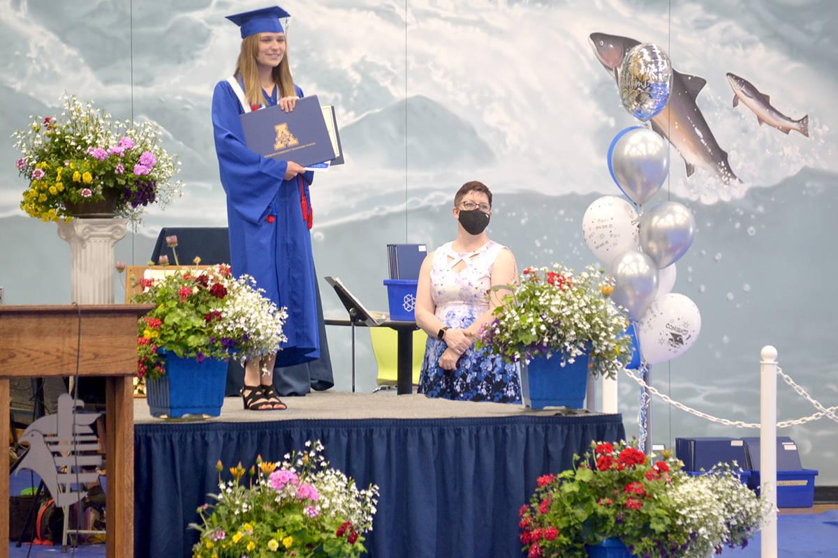 Aldergrove Community Secondary school held a socially distant graduation ceremony for the class of 2021 on Wednesday, June 23. (Ryan Uytdewilligen/Aldergrove Star)