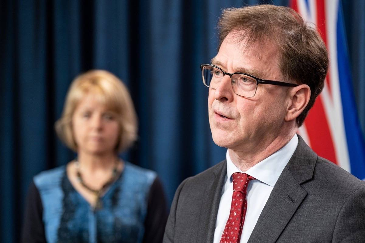 B.C. Health Minister Adrian Dix and provincial health officer Dr. Bonnie Henry. (Black Press Media files)