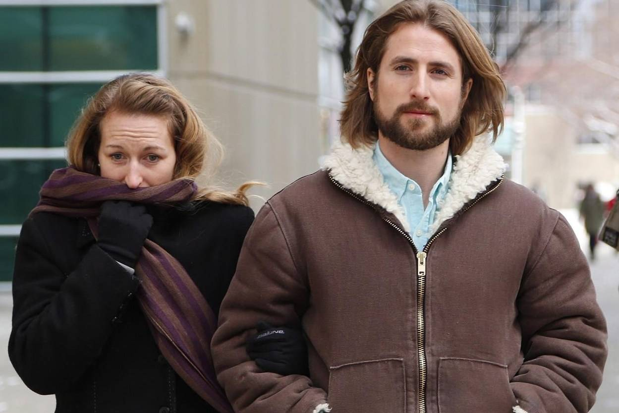 David and Collet Stephan leave for a break during an appeal hearing in Calgary on Thursday, March 9, 2017. Alberta Crown prosecutors have stayed charges against the Stephans who were facing a third trial in the death of their toddler. THE CANADIAN PRESS/Todd Korol