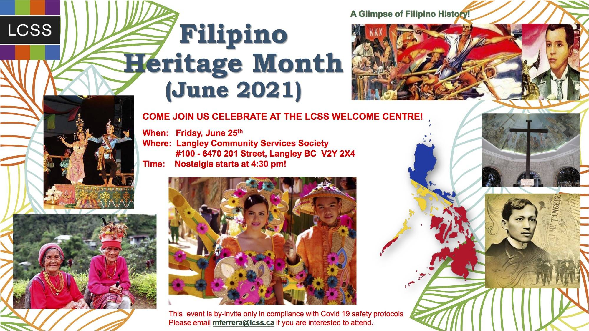 Langley Community Services Society is hosting an event Friday, June 25, 2021 in celebration of Filipino Heritage Month. (LCSS/Special Langley Advance Times)