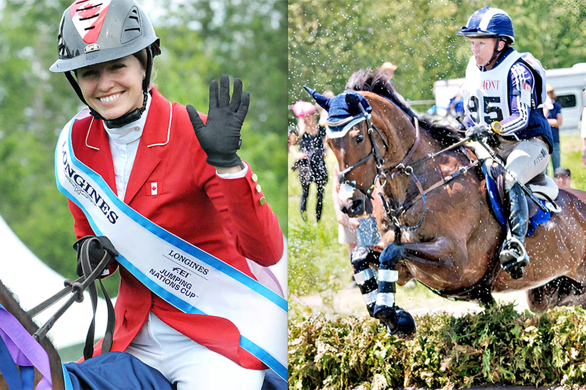 Langley's Tiffany Foster (L) and Hawley Bennett-Awad have been named as reserves to the Canadian equestrian team at the Tokyo Olympics. (Langley Advance Times files)