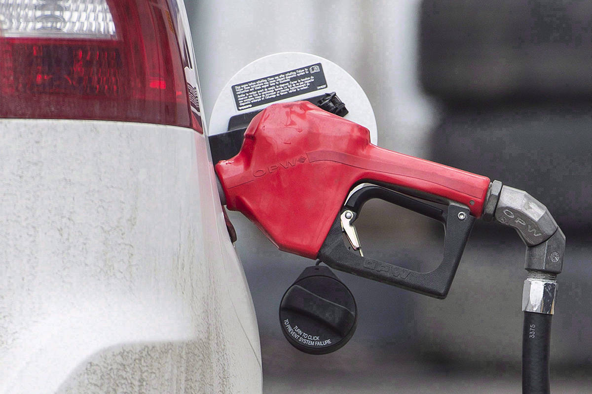 Gas pump at a filling station. (Photo by Graham Hughes/The Canadian Press)