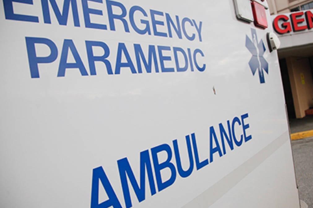 Ambulance at Surrey Memorial Hospital. (File photo)