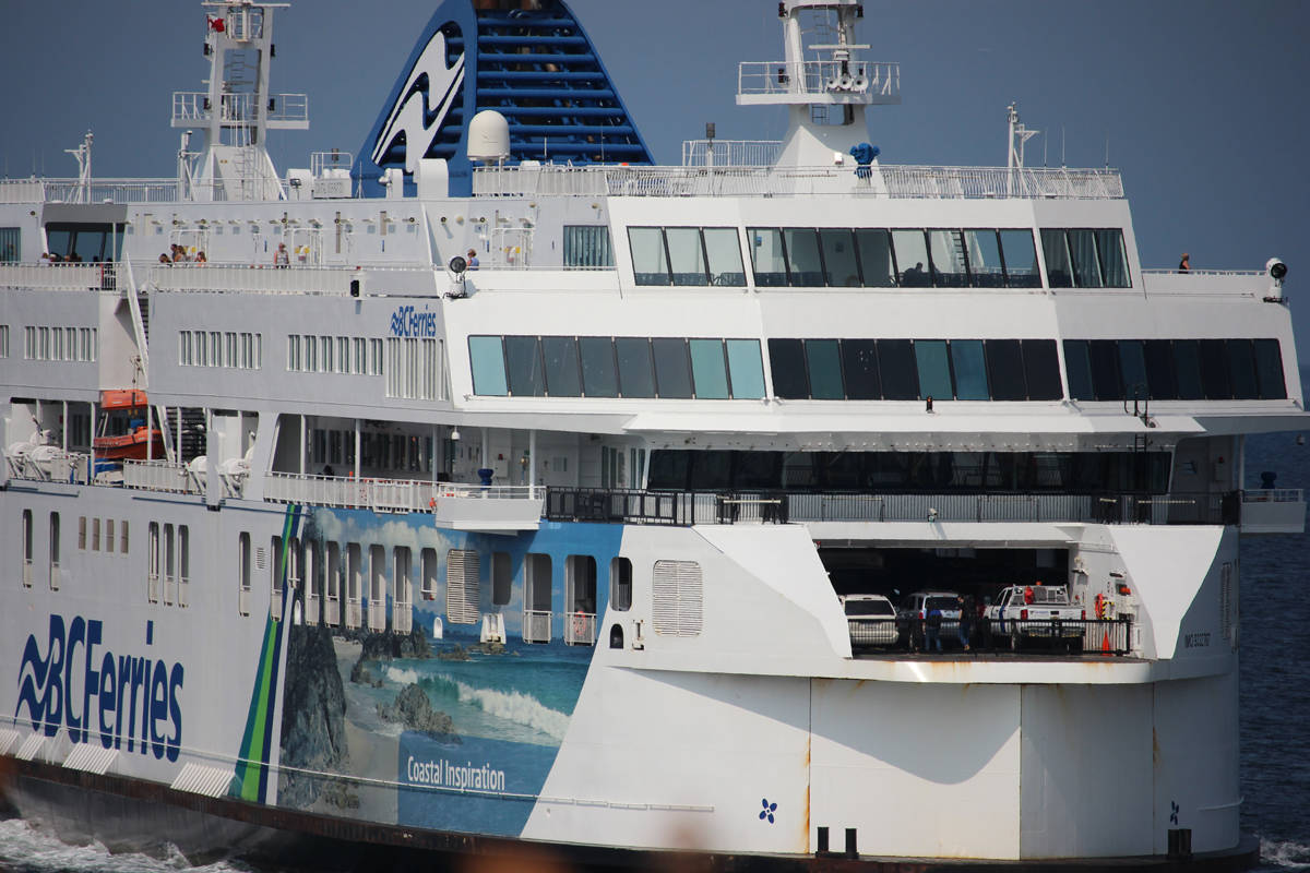 The BC Ferries vessel Coastal Inspiration arriving in Nanaimo. (News Bulletin file photo)