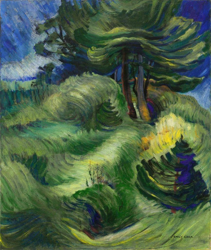 """Emily Carr's 1939 forest scene, """"Tossed by the Wind,"""" is shown in this handout image. A mature-period canvas by Emily Carr fetched more than $3 million at a Toronto auction, making it one of the most valuable works by the artist to come to market. THE CANADIAN PRESS/HO-Heffel Fine Art Auction House-Ward Bastian *MANDATORY CREDIT*"""
